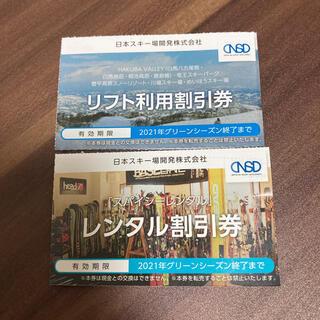 日本スキー場開発 リフト利用割引券+レンタル割引券セット グリーンシーズン使用可(スキー場)
