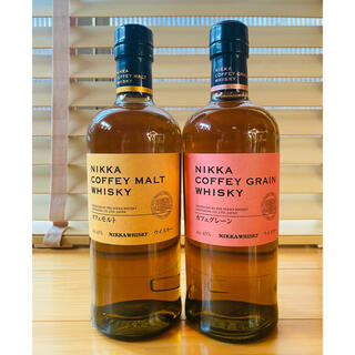 ニッカウイスキー(ニッカウヰスキー)の【送料込】ニッカ カフェモルト カフェグレーン 各1本(ウイスキー)
