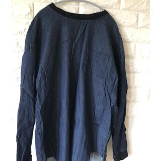 ジーユー(GU)のGU   デニム風  カットソー(Tシャツ/カットソー(七分/長袖))