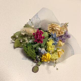 ドライフラワー 春色スワッグ ブーケ 花束 インテリア(ドライフラワー)