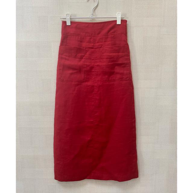 Mila Owen(ミラオーウェン)の【kei様専用】ミラオーウェン パッチポケットリネンタイトスカート レディースのスカート(ロングスカート)の商品写真