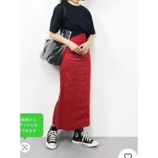 Mila Owen - ミラオーウェン パッチポケットリネンタイトスカート