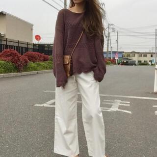 GU - レーシースカラップセーター GU ユニクロ