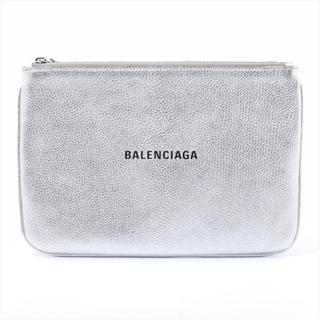 Balenciaga - バレンシアガ  レザー  シルバー ユニセックス ポーチ