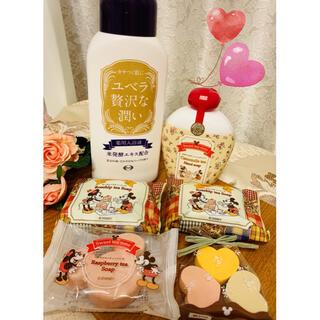 エーザイ(Eisai)のエーザイ【ユベラ贅沢な潤い✨Mickey & Minnie ソープ詰合♡】(入浴剤/バスソルト)