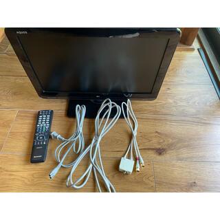 アクオス(AQUOS)のシャープ製 AQUOS19インチ液晶テレビ 2010年製 各種コード付き (テレビ)