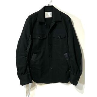 sacai -  SACAI 20ss ハイブリッド ミリタリーシャツ MA-1 (3)
