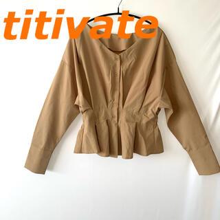 ティティベイト(titivate)のtitivate  ティティベイト ペプラム ブラウス(シャツ/ブラウス(長袖/七分))