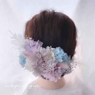 【No.514】ヘッドドレス 髪飾り ドライフラワー シャーベットカラー(ヘッドドレス/ドレス)