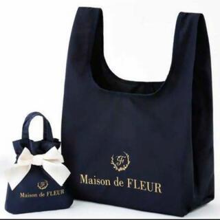 Maison de FLEUR - Maison de FLEUR エコバッグ ネイビー ローソン限定