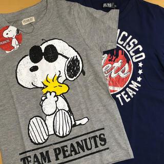 SNOOPY - 新品 半袖Tシャツ  スヌーピー&ロゴ  2枚セット  130cm