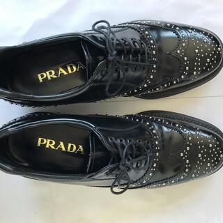 PRADA - プラダ スタッズ付きドレスシューズ