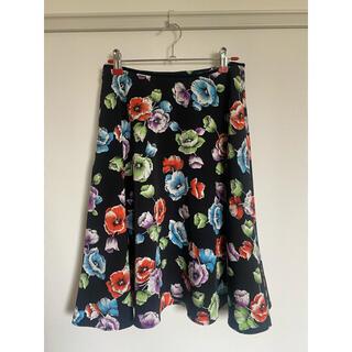 エル(ELLE)のELLE 花柄スカート(ひざ丈スカート)
