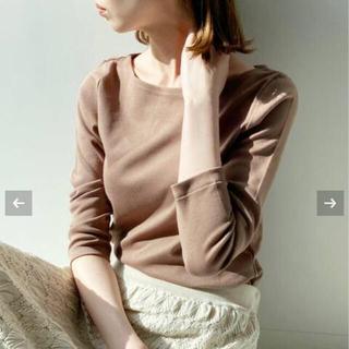 IENA - 【AURALEE/オーラリー 】IENA 別注ボートネックTシャツブラウンB