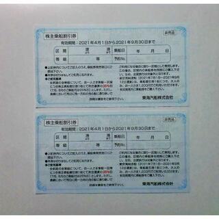 東海汽船 株主優待券2枚(その他)