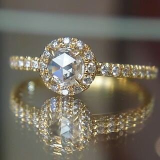 アーカー(AHKAH)のアーカー ヴィヴィアンローズ リング ダイヤ ダイヤモンド K18 ローズカット(リング(指輪))