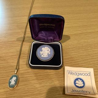 ウェッジウッド(WEDGWOOD)のウェッジウッド ブローチ ジャスパー 天使とネックレス(ブローチ/コサージュ)