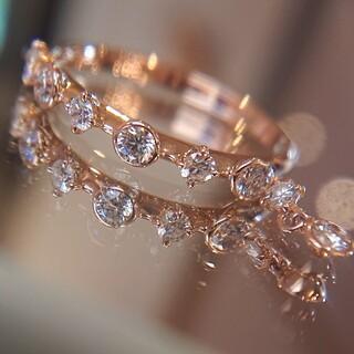 ミキモト(MIKIMOTO)のミキモト ディナーリング K18 ダイヤ ダイヤモンド ピンキーリング(リング(指輪))