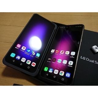 エルジーエレクトロニクス(LG Electronics)のSIMフリー LG V60 thinq A001LG クラッシーブルー(スマートフォン本体)