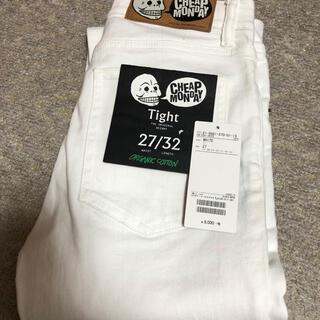 チープマンデー(CHEAP MONDAY)のチープマンデー Tight ホワイトスキニー  白 27/32 新品(デニム/ジーンズ)