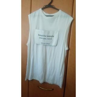 ビューティフルピープル(beautiful people)のbeautifulpeopleLノースリーブŢシャツ(Tシャツ(半袖/袖なし))