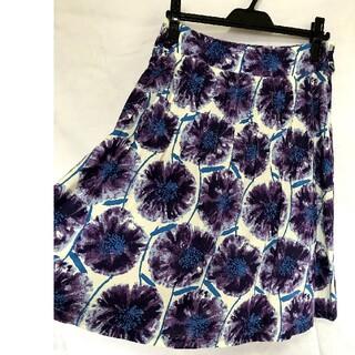 ザラ(ZARA)の膝丈スカート 紫 紫陽花 アリヴェ arrive(ひざ丈スカート)