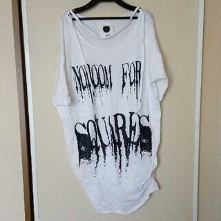 アゴストショップ(AGOSTO SHOP)のブラックパールドルマンTシャツ(Tシャツ(半袖/袖なし))
