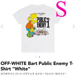 オフホワイト(OFF-WHITE)のOFF-WHITE Bart Public Enemy T-Shirt Sサイズ(Tシャツ/カットソー(半袖/袖なし))