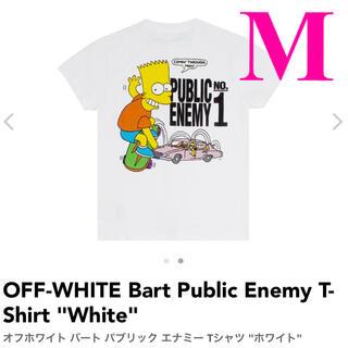 オフホワイト(OFF-WHITE)のOFF-WHITE Bart Public Enemy T-Shirt Mサイズ(Tシャツ/カットソー(半袖/袖なし))