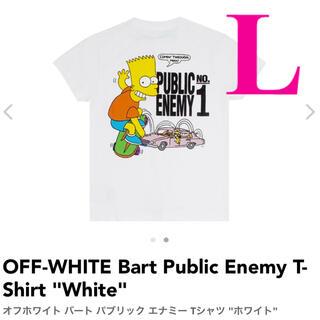 オフホワイト(OFF-WHITE)のOFF-WHITE Bart Public Enemy T-Shirt Lサイズ(Tシャツ/カットソー(半袖/袖なし))
