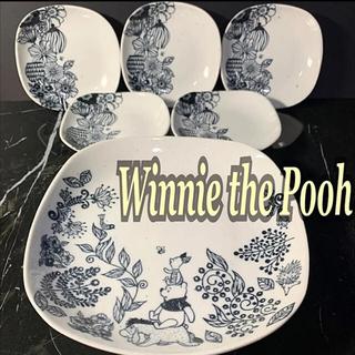 クマノプーサン(くまのプーさん)のmaebata / 前畑陶器  くまのプーさん モノトーン フラワー 食器 6点(食器)
