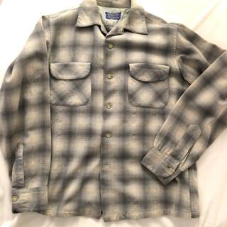 ペンドルトン(PENDLETON)の60s ペンドルトン 開襟シャツ ボックスシャツ オンブレ グランジ チェック(シャツ)