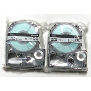 キングジム - テプラテープ TEPRA PRO  9mm 白/黒文字2個セット