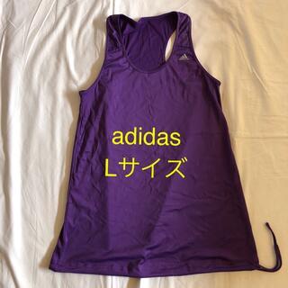 アディダス(adidas)のadidas ランニング トップス 紫パープル Lサイズ フィットネスウエア(ヨガ)