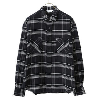 アンユーズド(UNUSED)のUNUSED 18aw oversize check shirt black(シャツ)