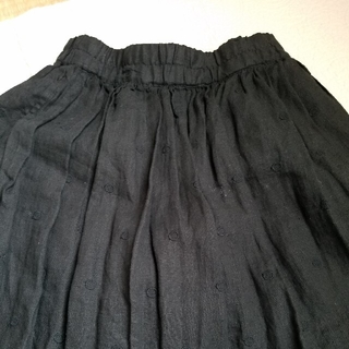 SM2 - TSUHARU❁フレンチリネンドット刺繍スカート