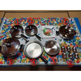アムウェイ(Amway)のアムウェイ 鍋 17点セット(調理道具/製菓道具)