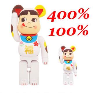 メディコムトイ(MEDICOM TOY)のBE@RBRICK ベアブリック 招き猫 ペコちゃん 福 100% & 400%(その他)