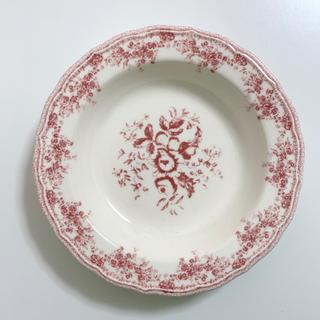 ザラホーム(ZARA HOME)のアンティーク 深皿 プレート 花柄 レッド / パスタ  スープ サラダボウル(食器)