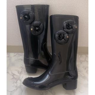 シャネル(CHANEL)のCHANEL レインブーツ 37(レインブーツ/長靴)