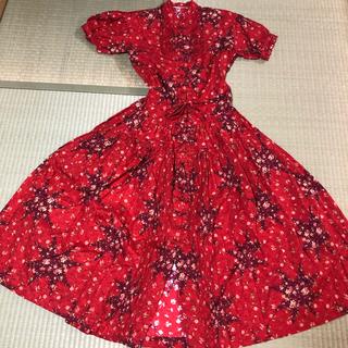 PINK HOUSE - ワンダフルワールド ピンクハウス 花柄ロングワンピース チャイニーズドレス