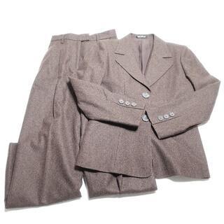 コムサデモード(COMME CA DU MODE)のCOMME CA DU MODE パンツスーツ レディース ブラウン(スーツ)