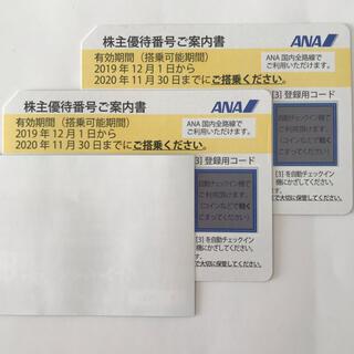 エーエヌエー(ゼンニッポンクウユ)(ANA(全日本空輸))のANA 株主優待券2枚 2021年05月31日まで(航空券)