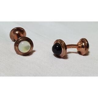 エステーデュポン(S.T. Dupont)の正規美 デュポン リフレクション リバーシブルカフス シェル×黒×PG系ブロンズ(カフリンクス)