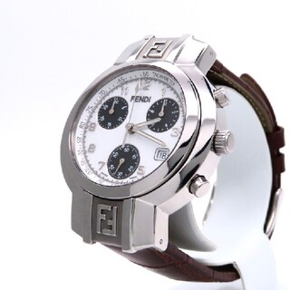フェンディ(FENDI)の【FENDI】フェンディ 時計 'オロロジクロノグラフ' ホワイト ☆美品☆(腕時計(アナログ))