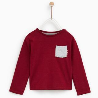 ザラ(ZARA)のZARA baby ポケット付き長袖Tシャツ 18-24months(Tシャツ/カットソー)