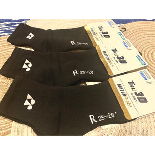 ヨネックス(YONEX)のYONEX ヨネックス ソックス     靴下 25cm〜28m 黒3足(ソックス)