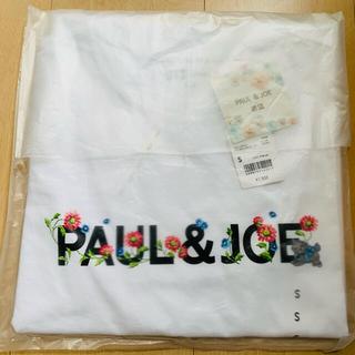 ポールアンドジョー(PAUL & JOE)のSサイズ ユニクロ ポール&ジョー UTグラフィックTシャツ ロゴ ホワイト(Tシャツ(半袖/袖なし))