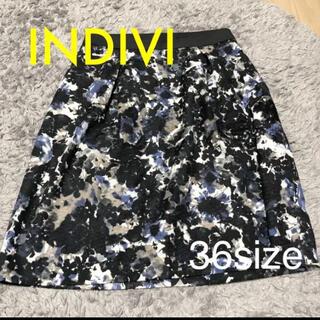 インディヴィ(INDIVI)のINDIVI♡フラワースカート 36size【美品】(ひざ丈スカート)