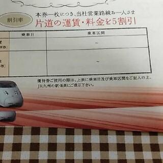 JR九州株主優待券 2枚(その他)